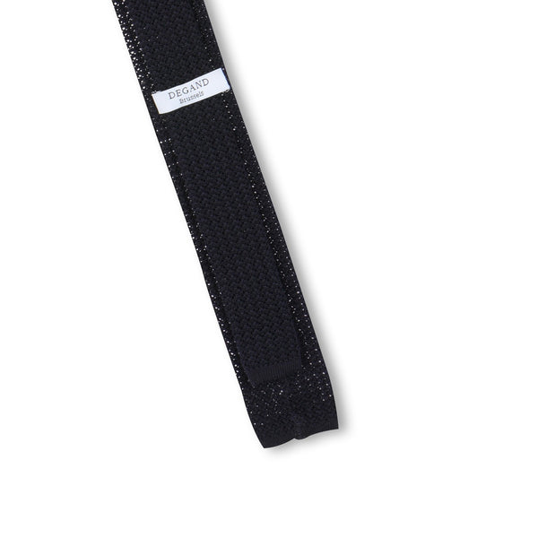 Plain Navy Knit Tie