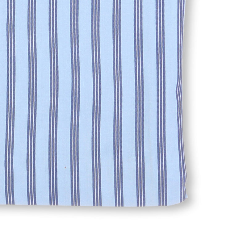 Striped Blue and Navy Double Cuff Shirt