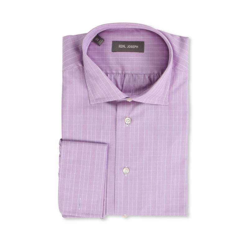 Prince of Wales Parma Double Cuff Shirt