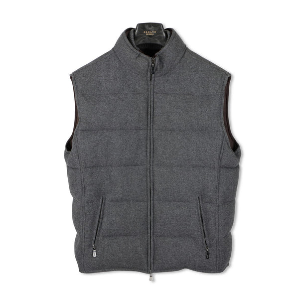 Grey Tweed Quilted Gilet — Airstop Lining