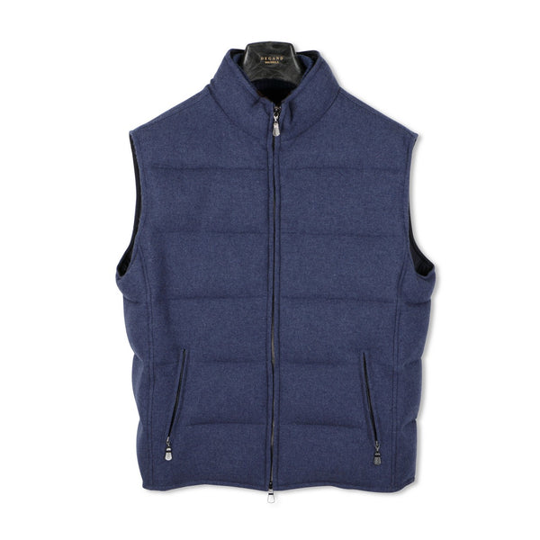Jeans Blue Tweed Quilted Gilet— Airstop Lining