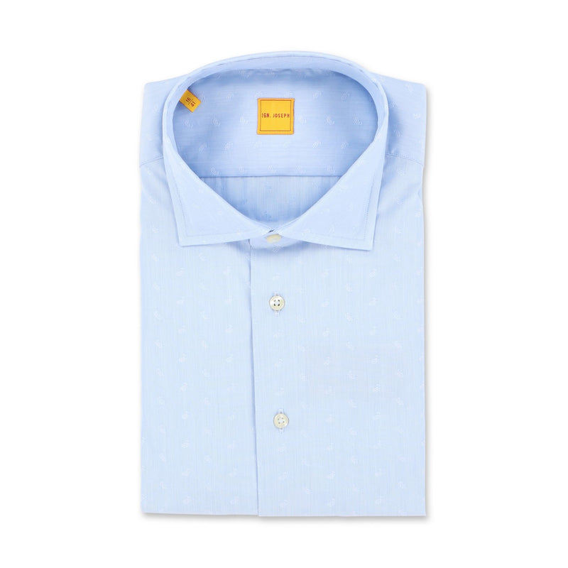 Paisley Light Blue Slim Shirt