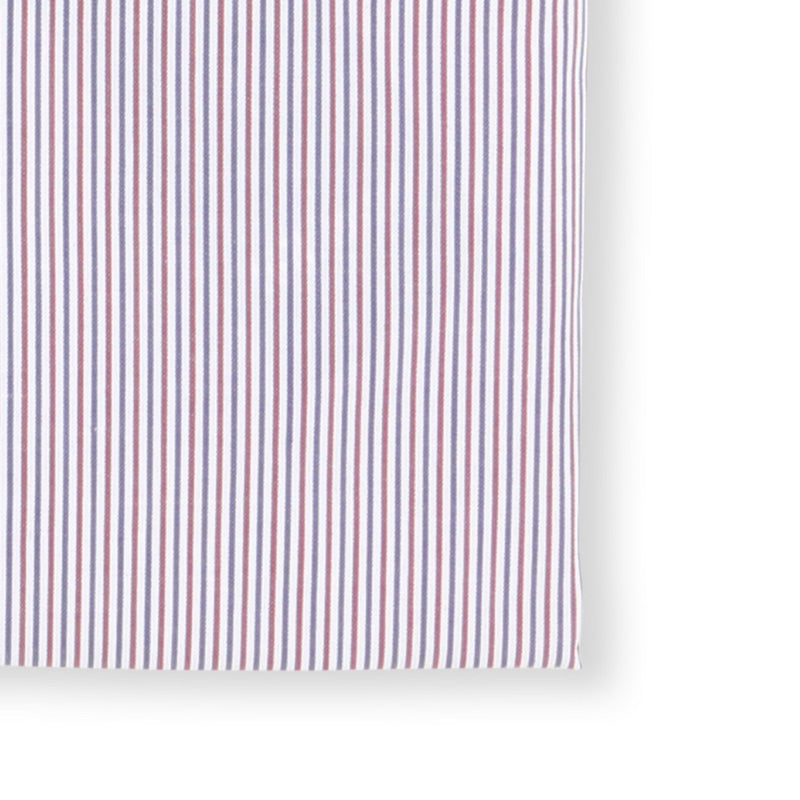 Striped White, Blue and Red Slim Shirt