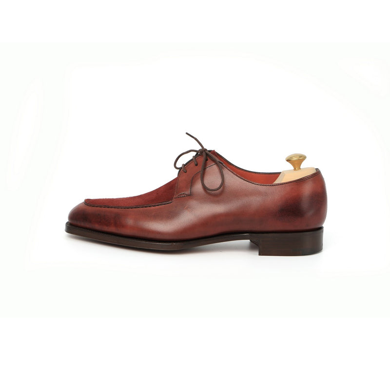 Ecton Laced Derbies in Burgundy Leather and Suede