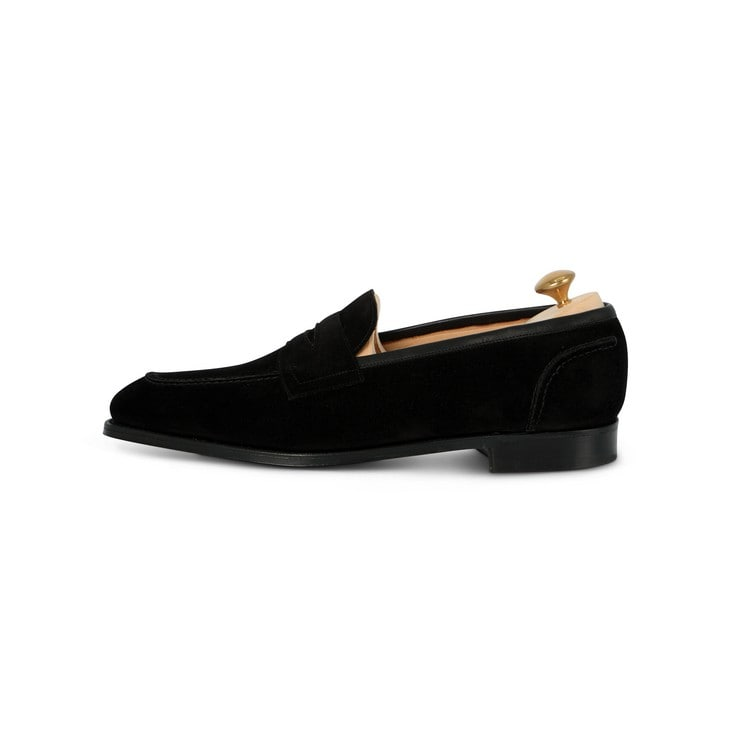 Winchelsea Loafer in Black Suede