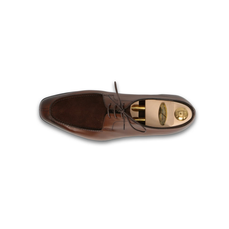 Ecton Laced Derbies in Dark Oak and Mink Leather