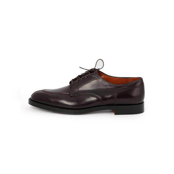 Norwegian Blucher Laced Derbies in Dark Burgundy Leather
