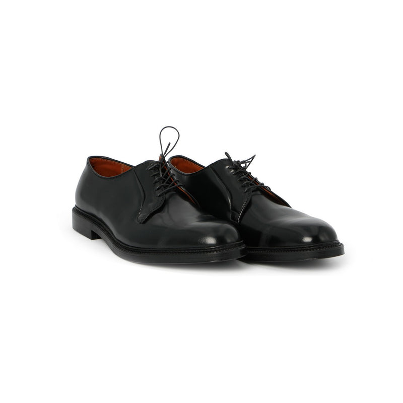 Plain Toe Laced Berbies in Black Leather