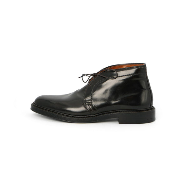 Chukka Laced Boots in Black Cordovan Leather