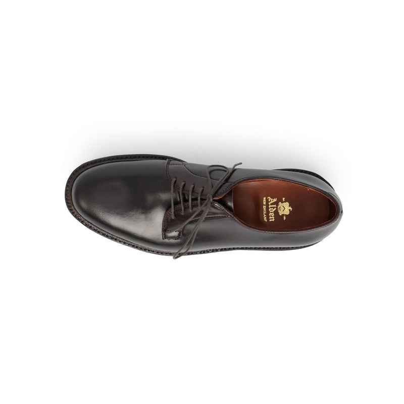 Plain Toe Derbies in Dark Burgundy Cordovan Leather