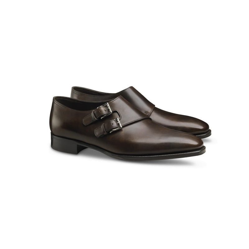 Chapel Monks in Dark Brown Leather