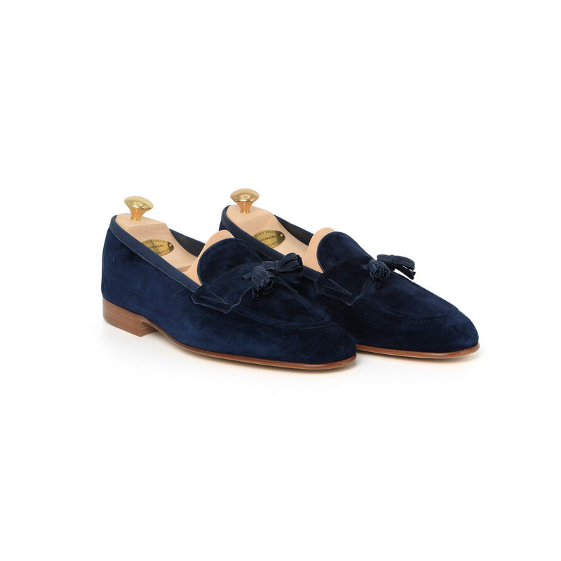 Portland Loafers in Navy Suede
