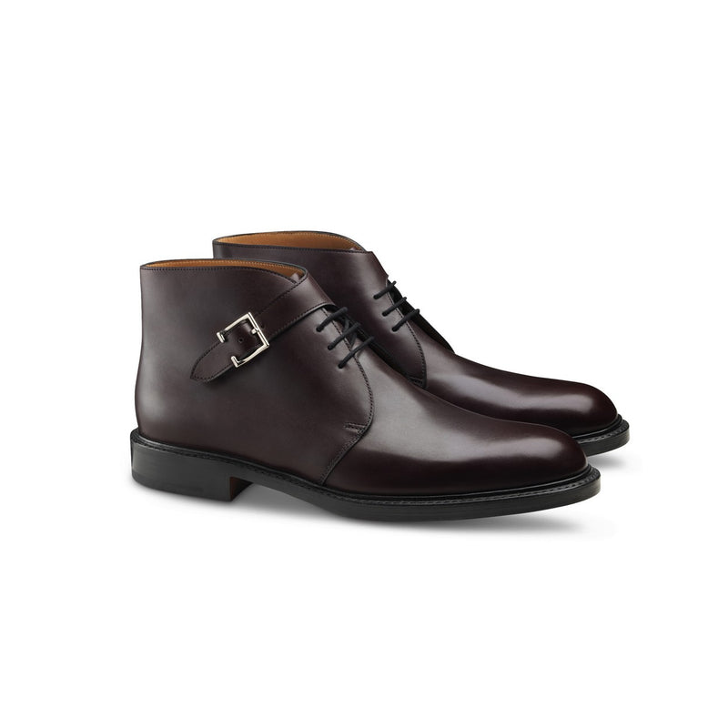 Combe Boots in Burgundy Leather