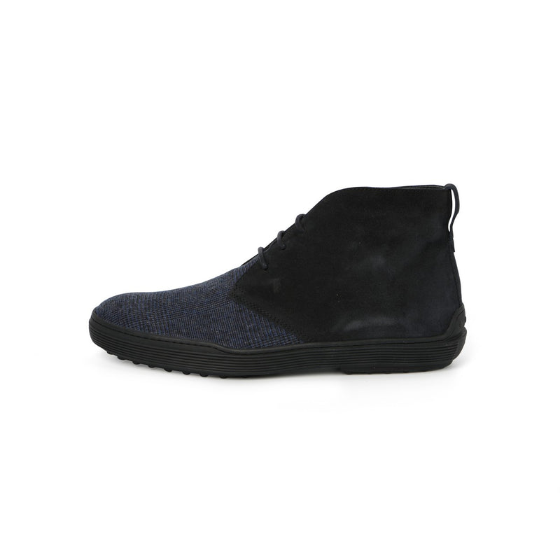 Gommini Laced Boots in Navy Suede