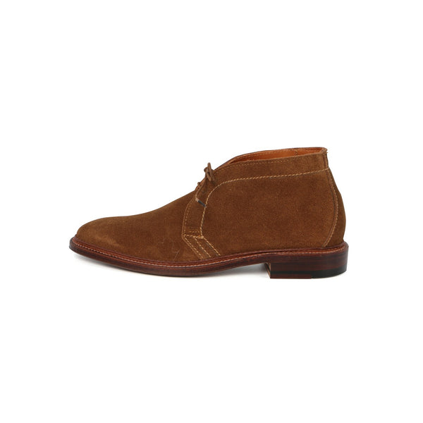 Chukka Laced Boots in Tobacco Suede