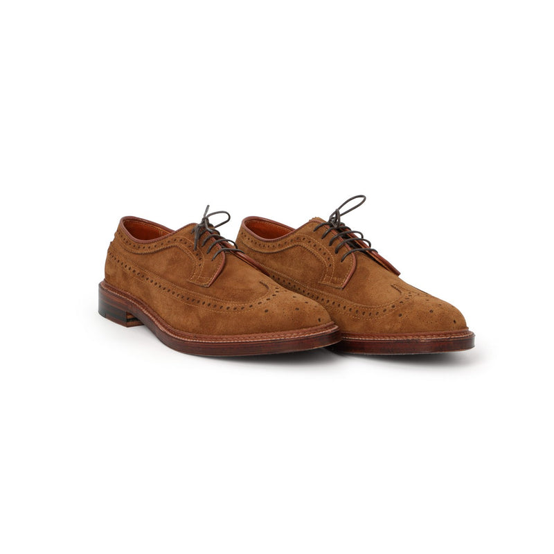 Long Wing Laced Derbies in Tobacco Suede