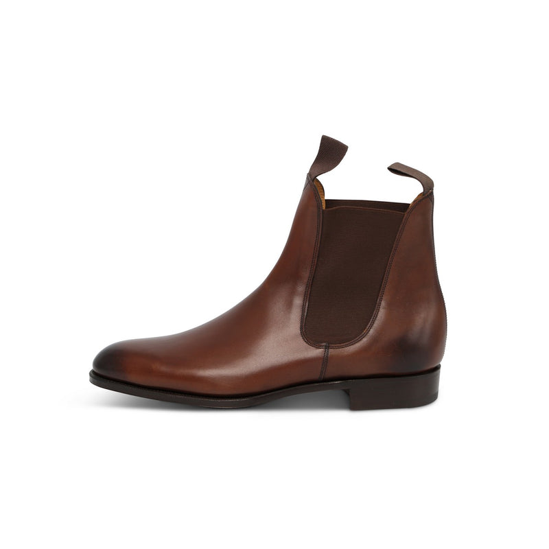 Newmarket Elastic-sided Boots in Dark Oak Leather