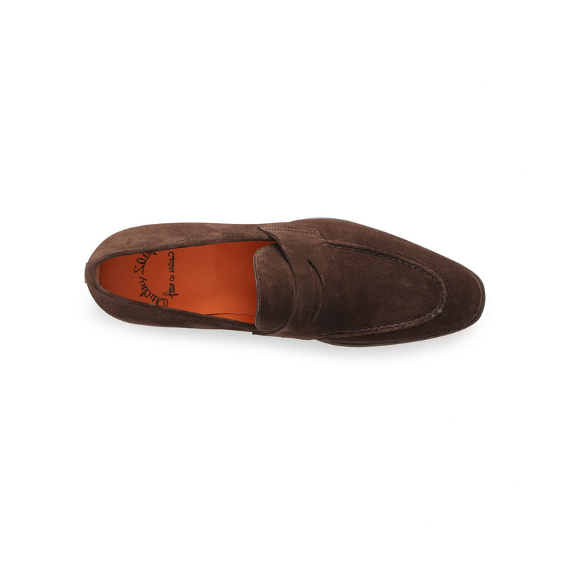 Duke Loafers in Dark Brown Suede