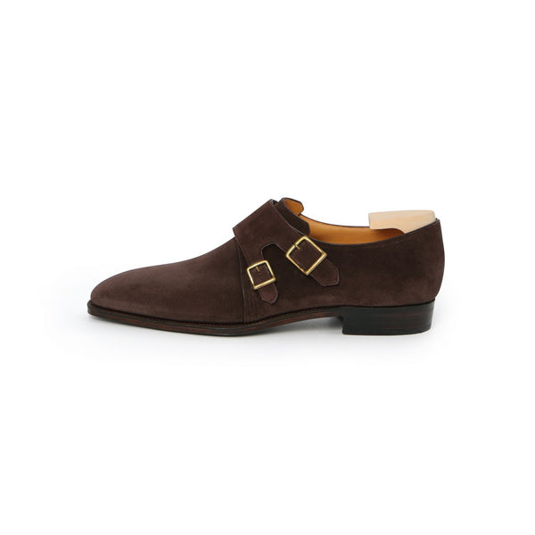Arca Twin Monks in Dark Brown Suede
