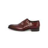 Carter 2 Buckles Monks in Burgundy Leather