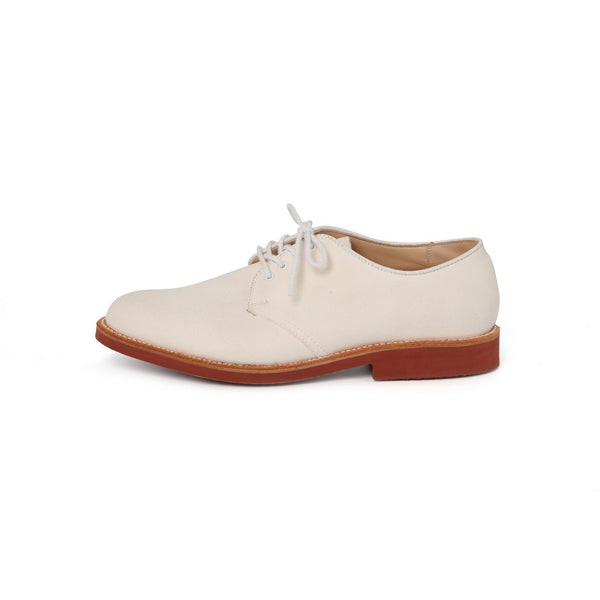 Nassau Blucher Laced Derbies in White Leather