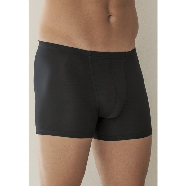 Micromodal Black Boxer Briefs with narrow waistband