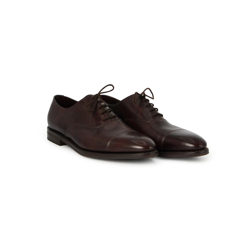 City II Laced Oxfords in Brown Leather