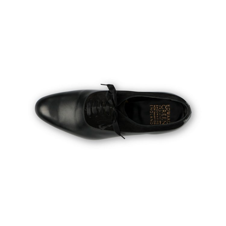 Ifford Evening Oxford in Black Leather and Suede