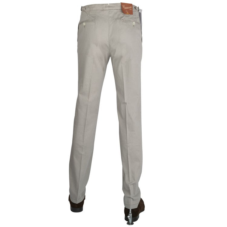 Cotton Satin Pants – Light Grey
