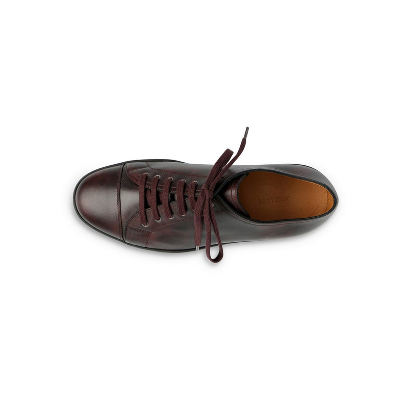 Levah Sneaker in Plum Leather
