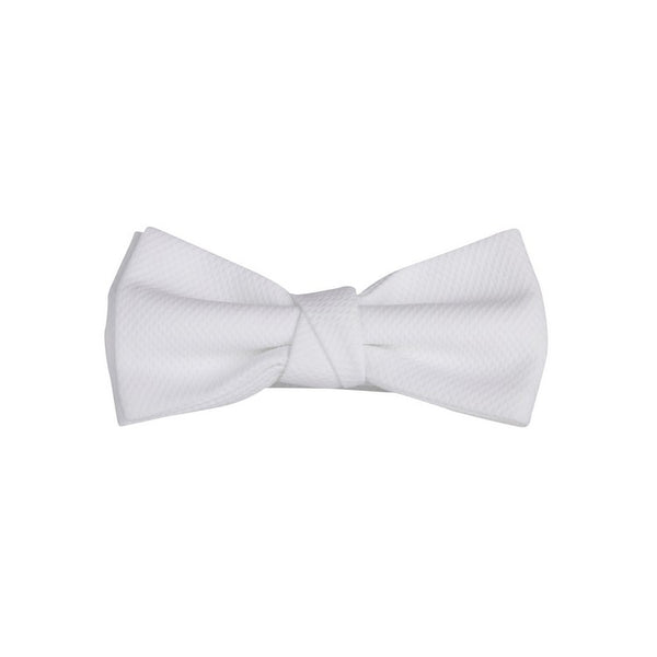 White Embossed Jaquette Bowtie