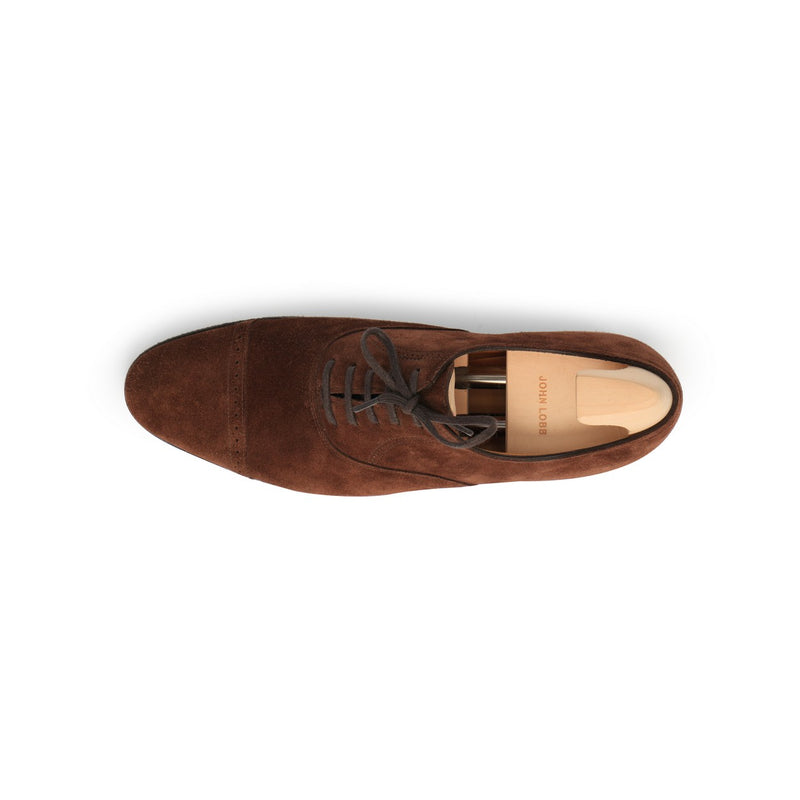 Philip II Laced Oxfords in Brown Suede