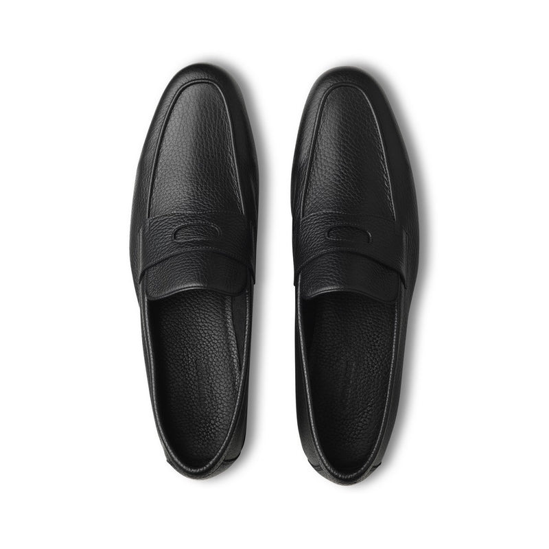 Thorne Loafers in Black Grained Leather