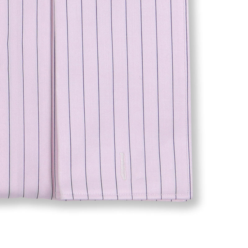 Striped Pink Double Cuff Shirt