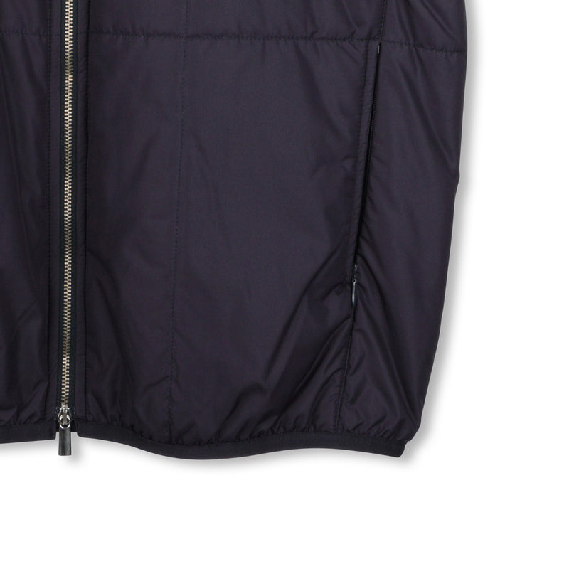 Navy Polyester Quilted Gilet