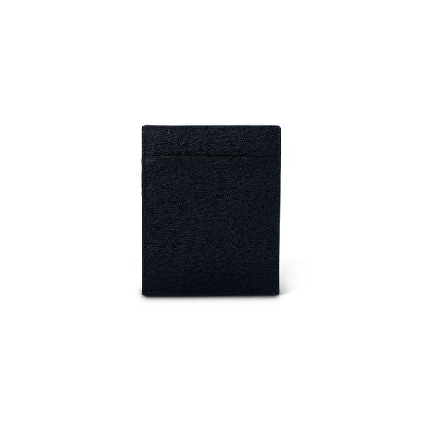 Navy Grained Leather Cardholder