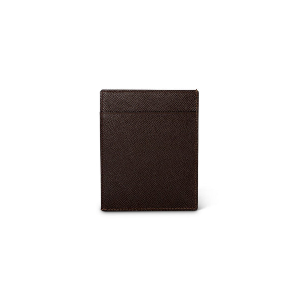 Brown Grained Leather Cardholder