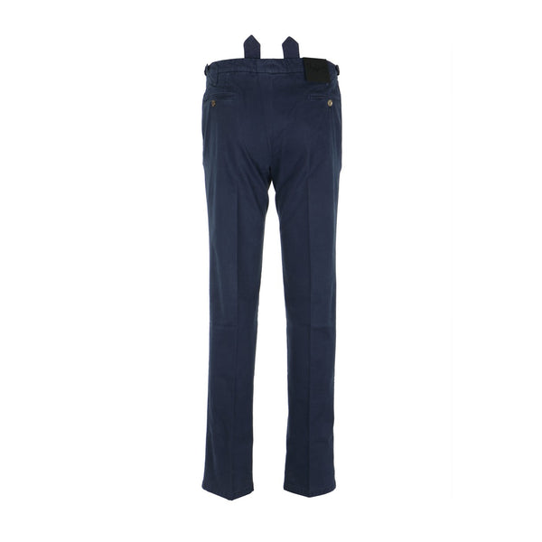 Navy Drill Stretch Pants with Straps