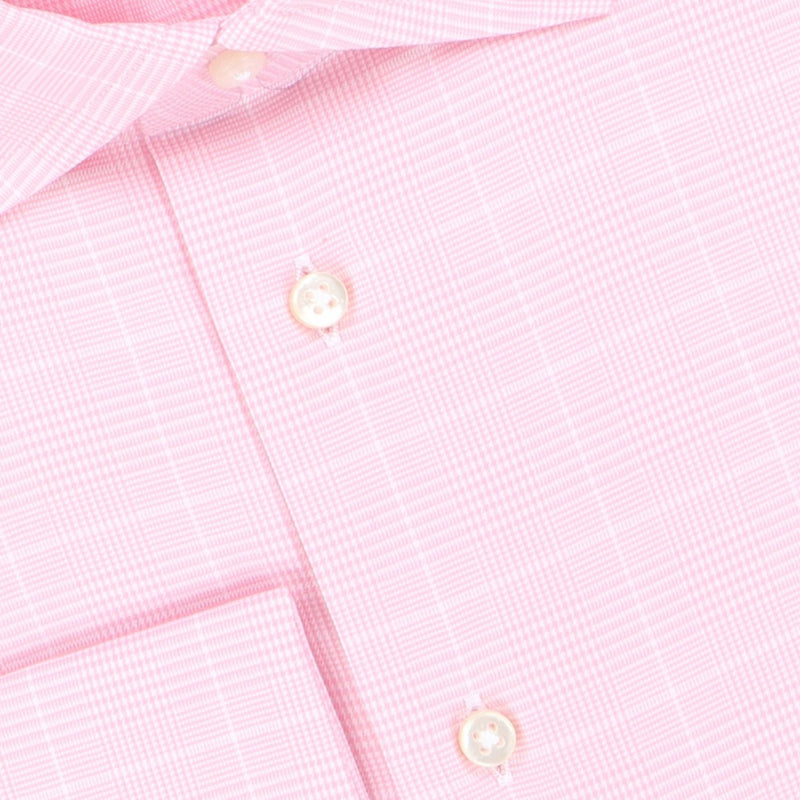 Prince of Wales Pink Double Cuff Shirt