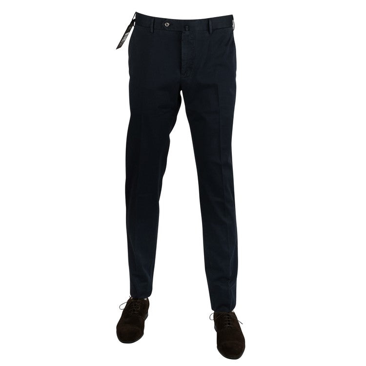 Microfancy Cotton Slim Pants – Navy