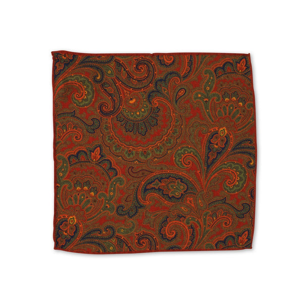 Cashmere Rust Pocket Square