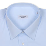 Plain Light Blue Double Cuff Shirt