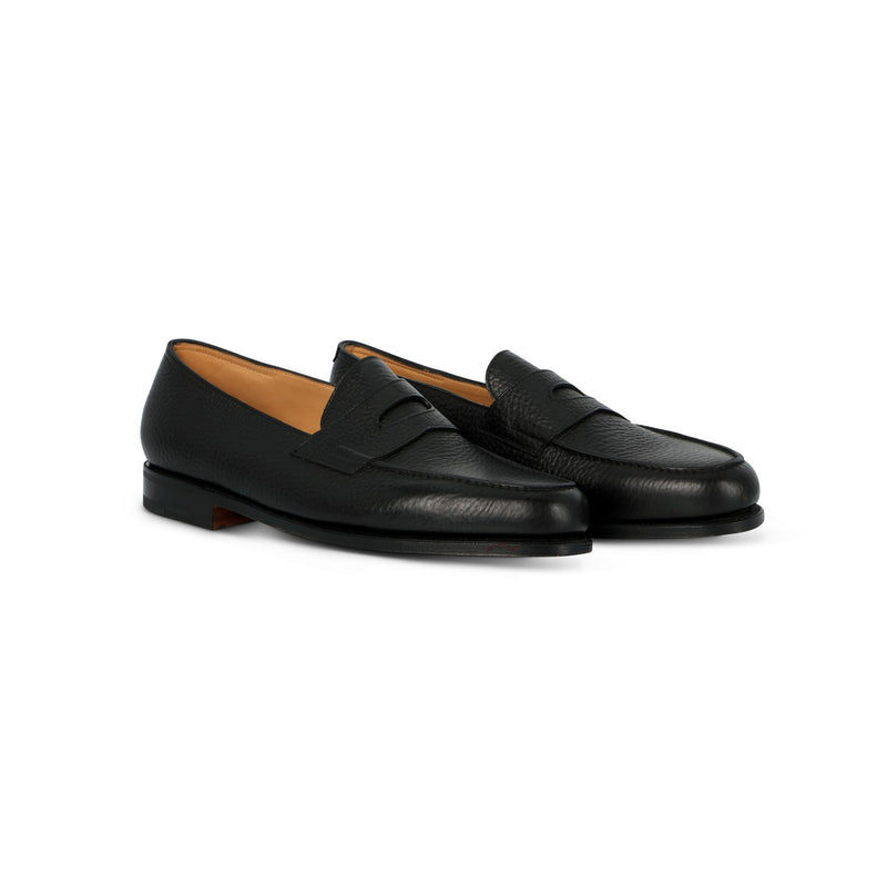 Tensile Lopez Loafer in Black Grained Leather