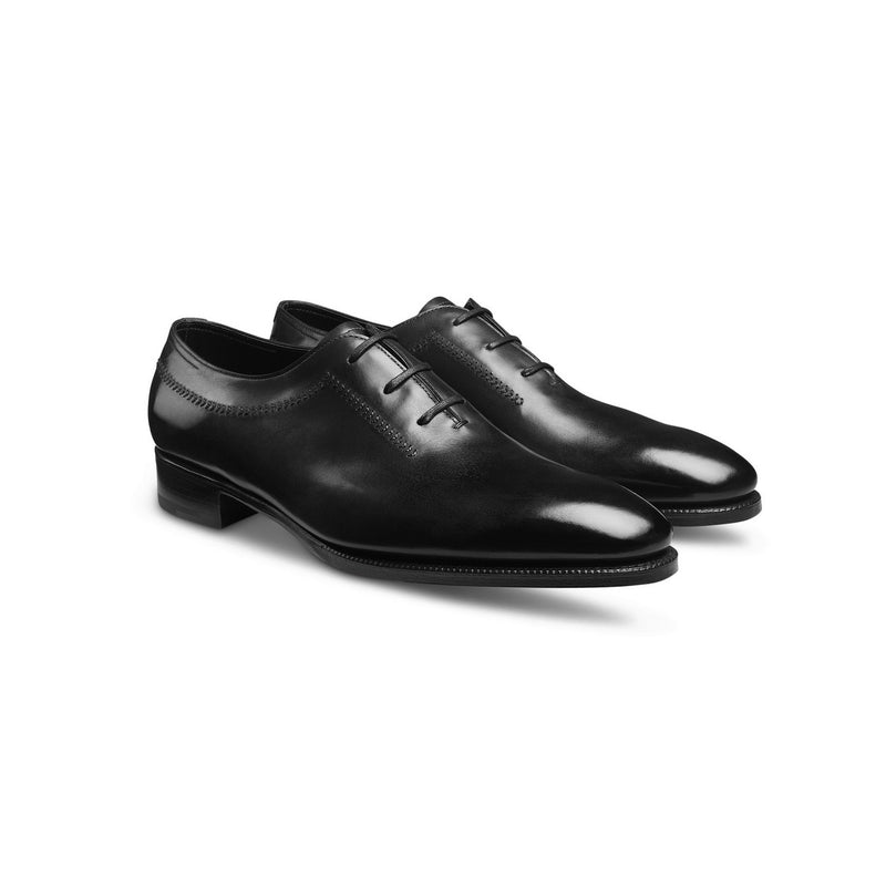 Holt Laced Oxfords in Black Leather