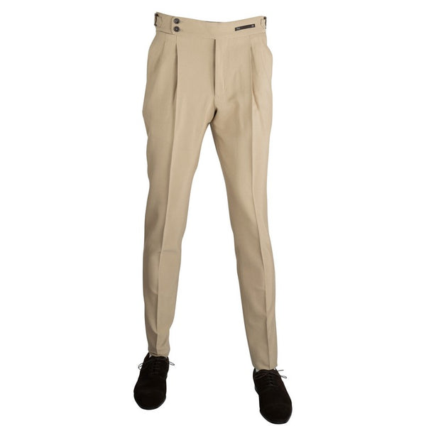 Gentleman Fit Straps Pants – Beige