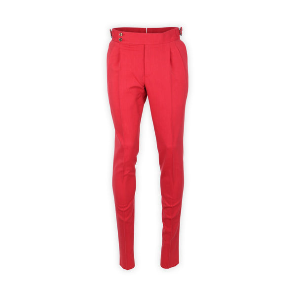 Gentleman Fit Straps Pants – Red