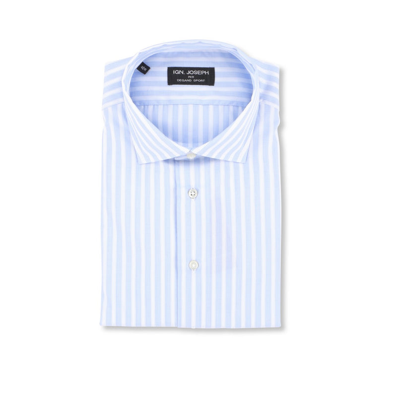 Striped Blue and White Slim Shirt