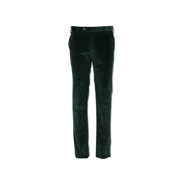Bottle Green Large Ribbed Corduroy Slim Pants