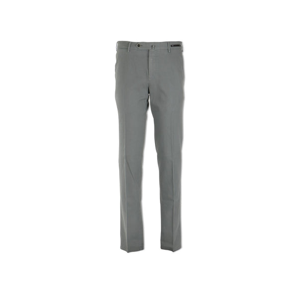 Light Grey Stretch Cotton Twill Pants