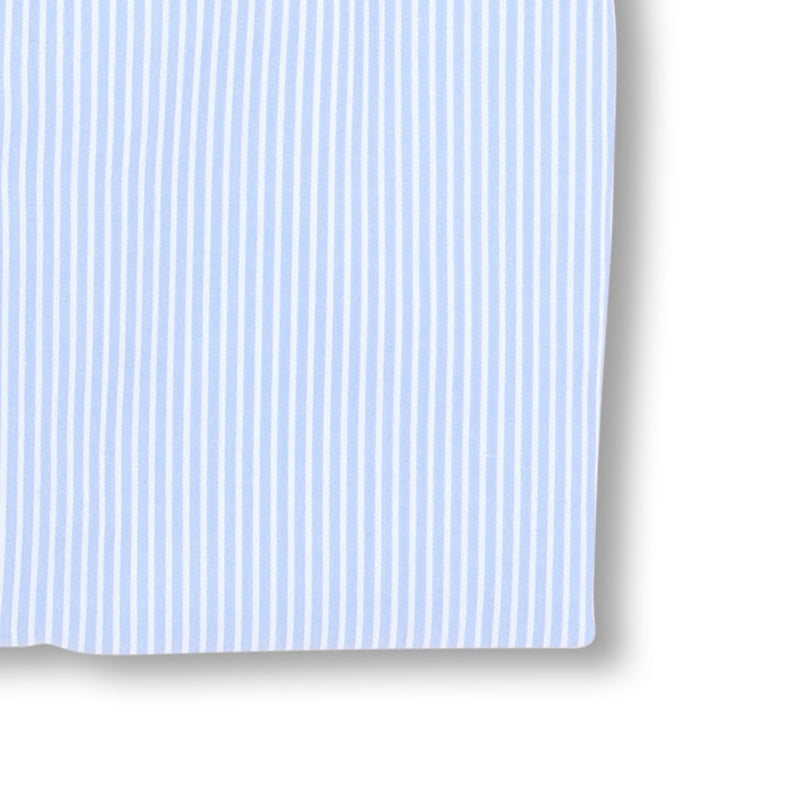 Striped Light Blue Poplin Slim Shirt